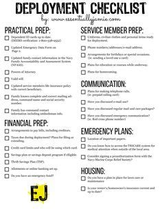 a pre deployment list free printable things to do free printable and