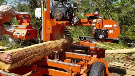 Backyard Sawmill Saw Pine Lighter Log On The Wood-mizer