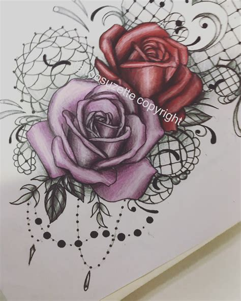 tatouage roses mandala  tattoosuzette  deviantart