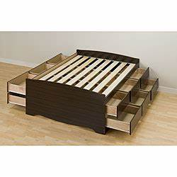 Brazoria collection king size platform bed with storage for Overstock furniture and mattress plano