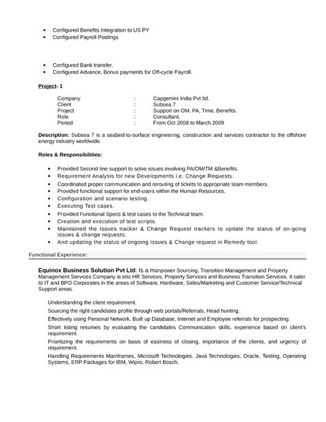 Hr Business Consultant Resume by Professional Hr Consultant Resume Template Page 4