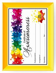 certificate of awesomeness templates for kids printable With certificate of awesomeness template