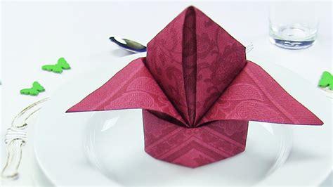 Servietten Falten Papier by Napkin Folding Bishop S Hat Or Easy Napkins Folding