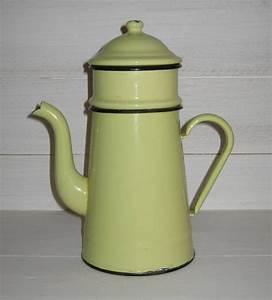Cafetiere A L Ancienne : ancienne cafeti re en t le maill e jaune avec rebords ~ Premium-room.com Idées de Décoration