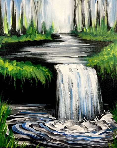 hey check out the waterfall at the greene turtle columbia paint nite event scenic