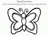 Symmetry Butterfly Symmetrical Coloring Worksheets Drawing Sheets Radial Clipart Printable Template Spring Activity Line Elementary Draw Activities Sketch Amc Coloringhome sketch template