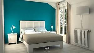 idee deco peinture chambre adulte kirafes With exemple de couleur de chambre