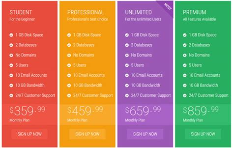 comparison table template html 35 best html css3 responsive pricing table templates
