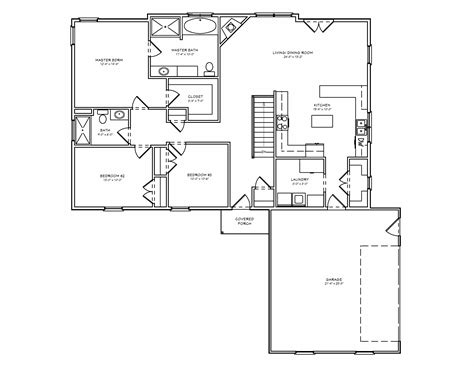 one level house plans best one and a half house plans arts with basement 3