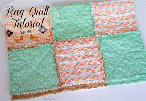 diy rag quilt tutorial   modern touch coral