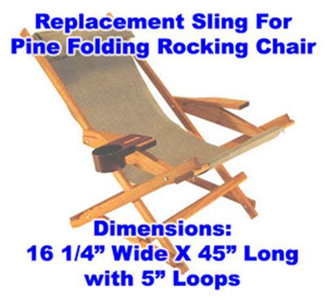 custom size sling or chair sunbrella replacement sling