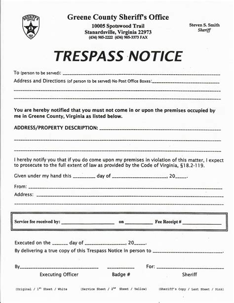 Trespass Notice Template by Fantastic Trespass Notice Template Adornment Exle