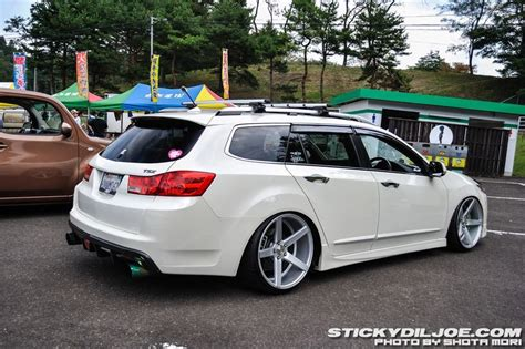 acura tsx wagon slammed stance bad ass rides acura