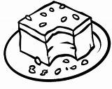 Brownie Brownies Coloring Pages Clipart Chocolate Cookie Cookies Cinnamon Roll Drawing Slice Dark Bread Clip Chip Kooky Cliparts Printable Cute sketch template