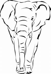 Elephant Face Silhouette Clipart - Clipart Kid | Batik ...