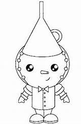Oz Tin Wizard Colorear Mago Coloring Hombre Hojalata Moldes Mágico Latas Feltro Dibujos sketch template