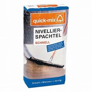 Ausgleichsmasse Quick Mix : quick mix nivellierspachtel schnell 8 kg schichtdicke 2 ~ Michelbontemps.com Haus und Dekorationen