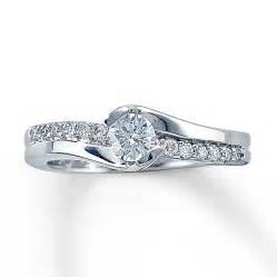 14k white gold engagement rings jared engagement ring 12 ct tw cut 14k white gold ring diamantbilds