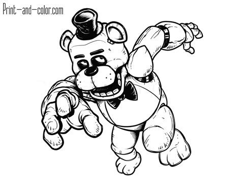 disegni da colorare animatronics five nights at freddys coloring pages just colorings