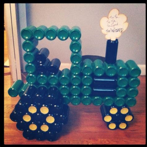 tractor     beer cans crafts pinterest