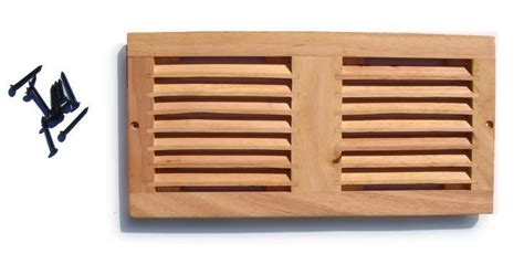 Cabinet Vent by Coolerguys Dual 120mm Oak Vent Cabinet Fan Grill Only