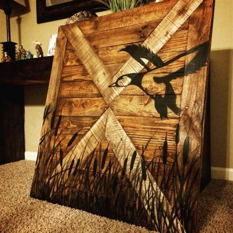 duck hunting wall decor wood sign  makeyourselfcreative