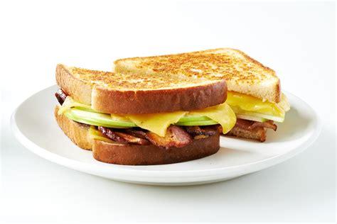 Sandwich Au Fromage Fondant Avec - sandwich au fromage fondant avec pomme et bacon ben s