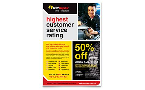 auto repair flyer template word publisher