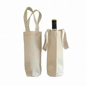 Eco Cotton Wine Bottle Bag 100% Natural Cotton - Luxury