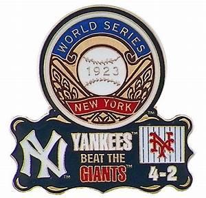 1923 World Series Commemorative Pin - Yankees vs. Giants ...