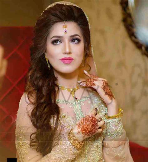 pakistani engagement hairstyles  brides