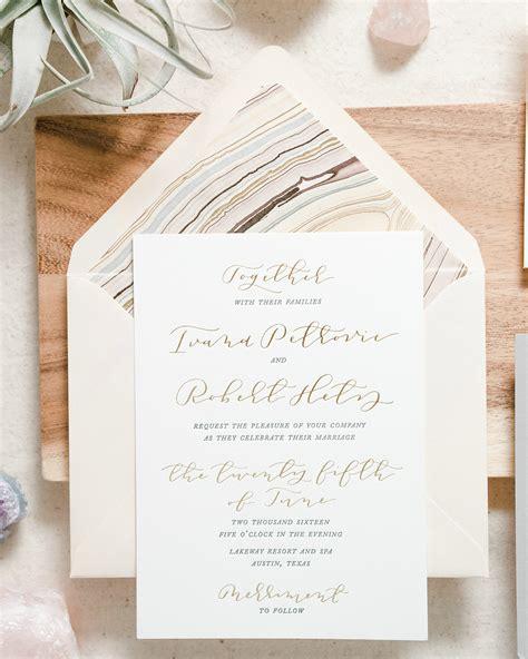 blush wedding invitations blush and gray letterpress calligraphy wedding 1989
