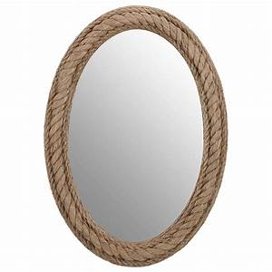 City Furniture: Rope Oval Mirror
