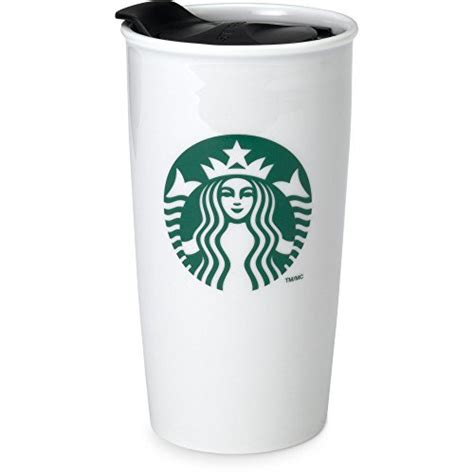 Starbucks Coffee Double Wall Ceramic Travel Mug Cup, 12 oz   Coffee Super Shop