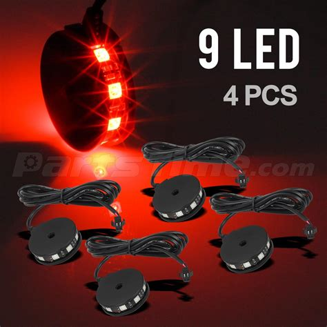 motorcycle wheel light kit 4 color led motorcycle axle wheel pod accent light