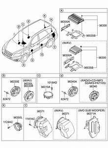 2009 Hyundai Santa Fe Speaker  U0026 Protector Assembly