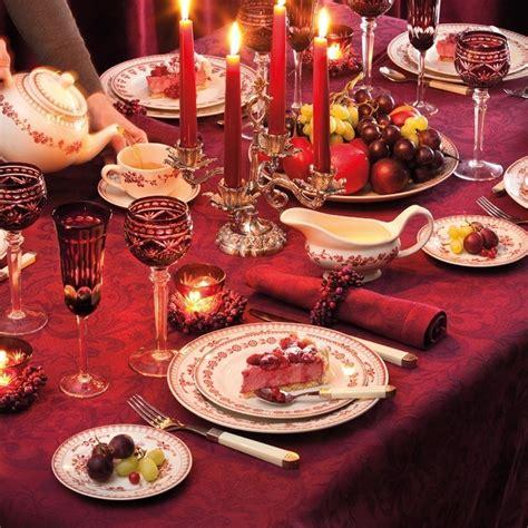 service de table faustine rouge maison  deco