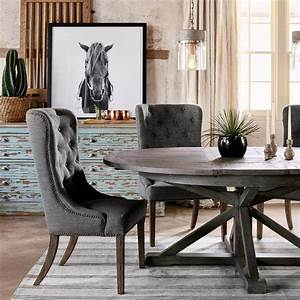 Chabert, French, Reclaimed, Wood, Extendable, Round, Dining, Table