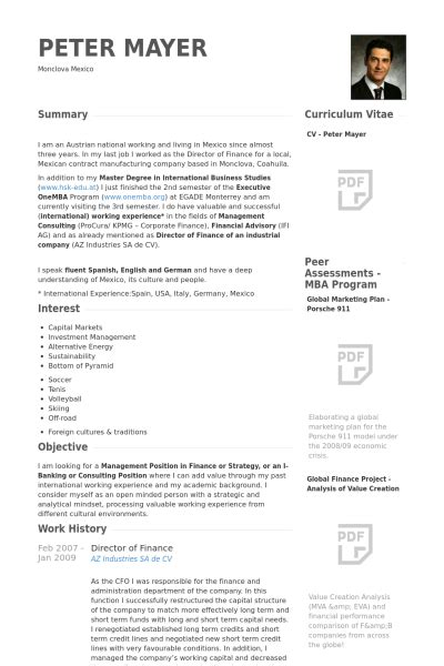 director of finance resume sles visualcv resume