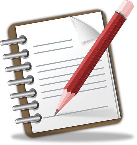 notepad memo pencil  vector graphic  pixabay