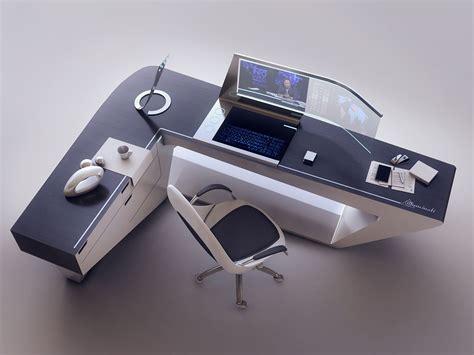 bureau modern artstation modern desk design encho enchev sci fi 2