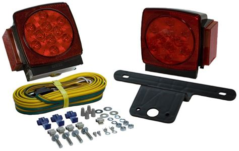 Led Submersible Trailer Lights by Blazer Square Submersible Led Trailer Light Kit Pair