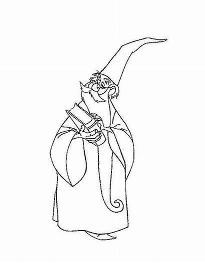 Disney Merlin Hipster Sword Stone Coloring Picphotos