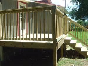 Wood Deck Handrails
