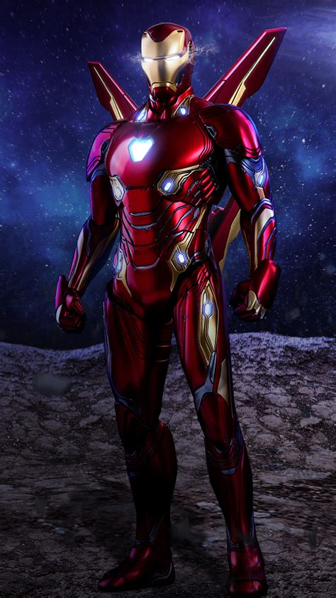 2160x3840 Iron Man Avengers Infinity War Suit Artwork Sony