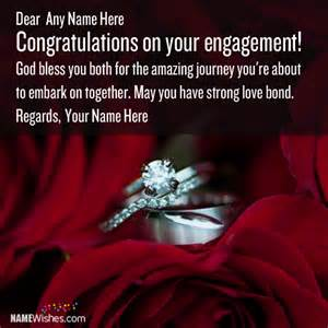engagement congratulations wishes with names