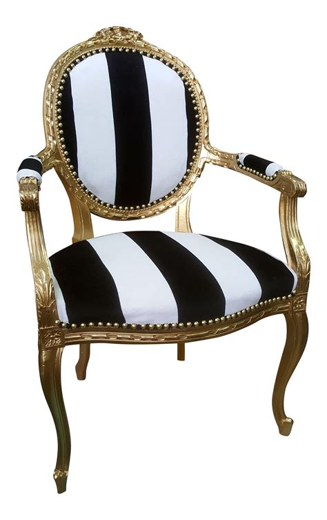 antique louis xvi chair  gold leaf  black  white