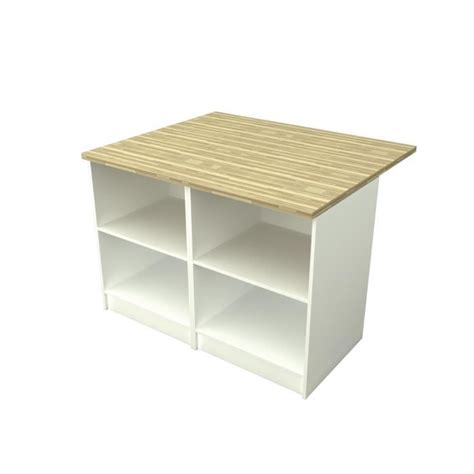 ilot cuisine prix smart ilot de cuisine 120x100cm blanc et décor bois