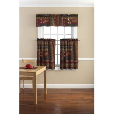 red valance kitchen curtains unique curtain walmart com
