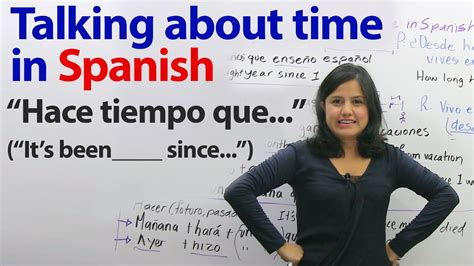 long time    spanish  ways  talk  time